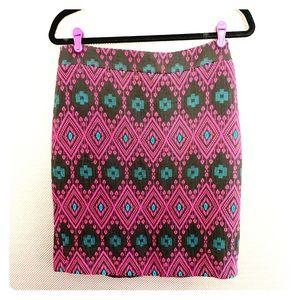 Ann Taylor Frozen Nordic Purple Skirt Petite 10P